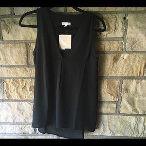 Black sheer blouse 14th & Union, NWT